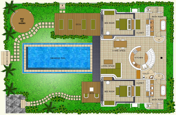 Space at Bali - Villa Layout